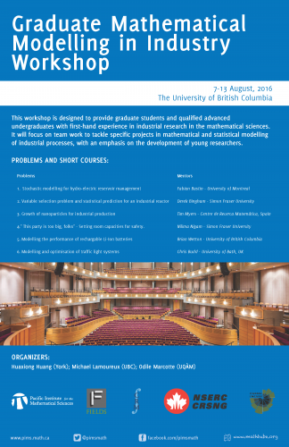 2016 Graduate Mathematical Modelling in Industry Workshop